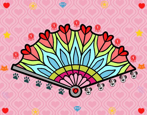 Dibujo Abanico corazones pintado por marlonyzuu