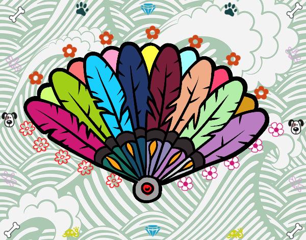 Dibujo Abanico de plumas pintado por marlonyzuu