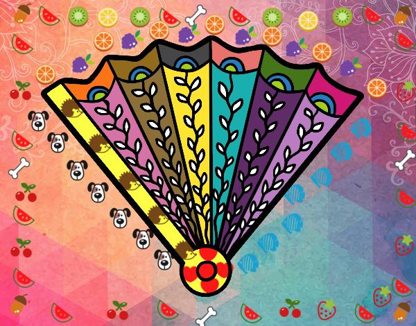 Dibujo Abanico decorado pintado por marlonyzuu