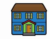 Dibujo Casa con dos pisos pintado por GOOGLELOGO