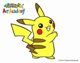 Dibujo Pikachu de espaldas pintado por GOOGLELOGO