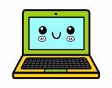 Dibujo Un ordenador portátil pintado por GOOGLELOGO