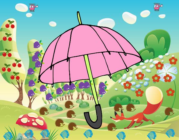 Dibujo Un paraguas pintado por marlonyzuu