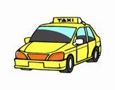 Dibujo Un taxi pintado por GOOGLELOGO
