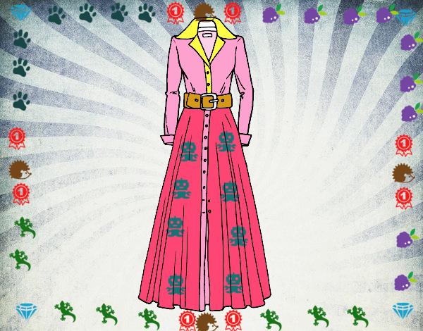 Dibujo Vestido camisero pintado por marlonyzuu