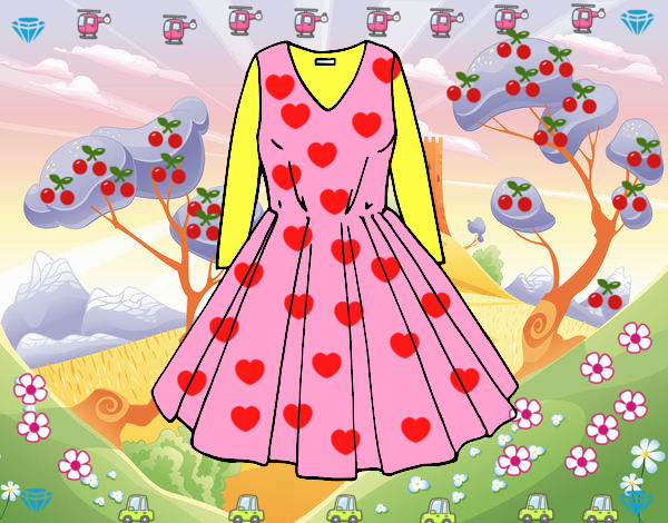 Dibujo Vestido con falda de vuelo pintado por marlonyzuu