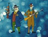 Dibujo Gangsters pintado por mariac127