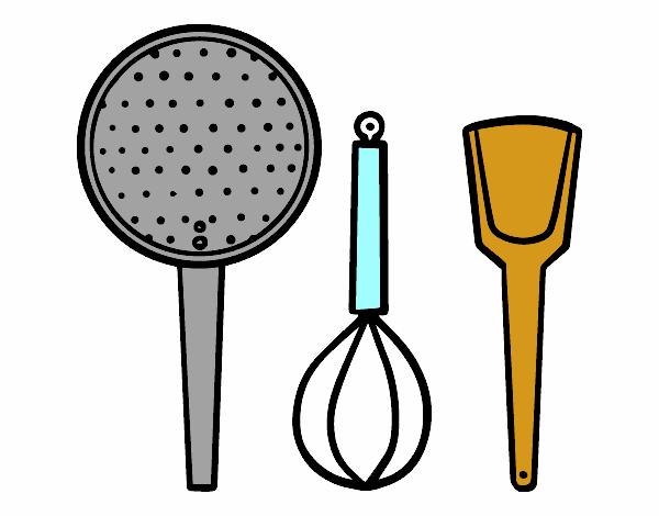 Dibujo de los utensilios de cocina pintado por en dibujos for Utensilios de cocina casa joven