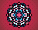 Dibujo Mandala vida vegetal pintado por verosoy