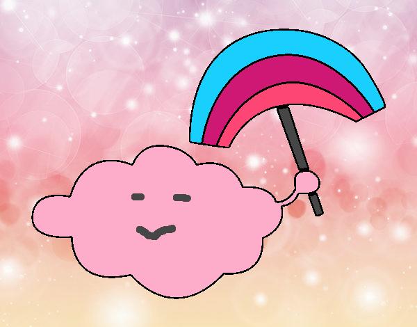 Nube con arcoiris