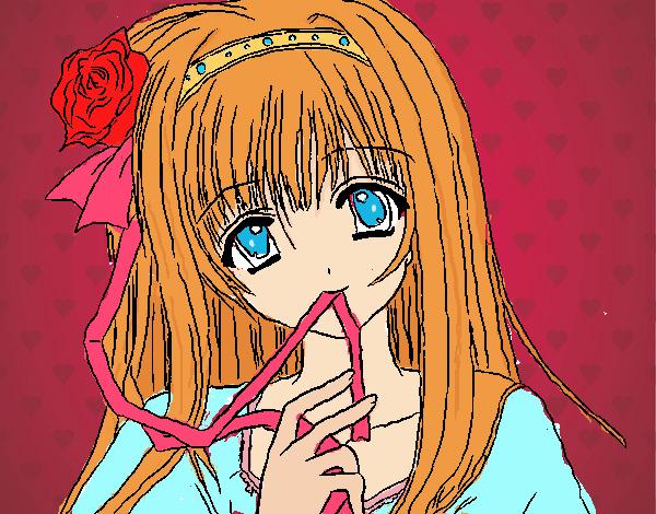 Dibujo De La Bella Durmiente Version Anime Fantacia