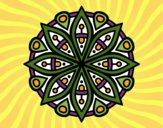 Dibujo Mandala para la concentración pintado por mariac127
