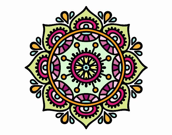 Dibujo De Mandala Para Relajarse Para Colorear: Dibujo De Mandala Para Relajarse Pintado Por Silviaines En
