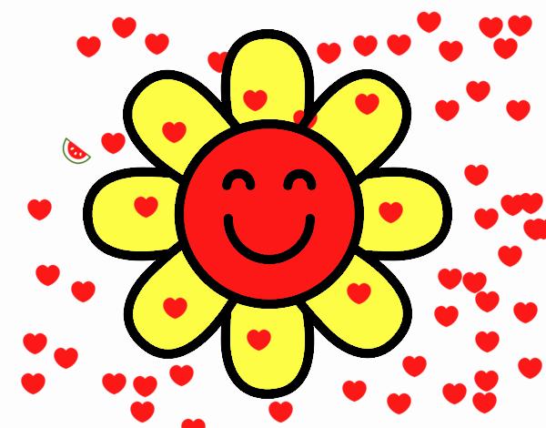 Dibujo de Flor sencilla pintado por 001salmi en Dibujosnet el da