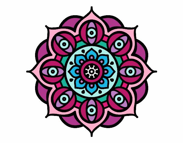 Dibujo De Mandala 11 Para Pintar Y Colorear En Línea: Dibujo De Mandala Pintado Por En Dibujos.net El Día 11-06