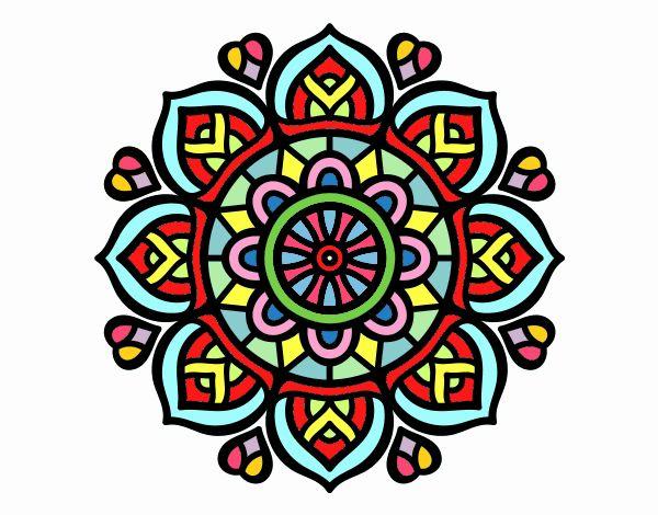 Dibujo de mandala para la concentraci n mental pintado por en el d a 05 06 17 a las - Colores para la concentracion ...