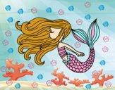 Dibujo Sirena flotando pintado por NIKCY