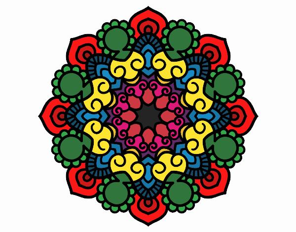 Dibujo Mandala reunión pintado por valeriand