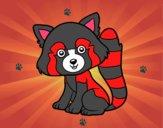 Dibujo Panda rojo pintado por LauraArti