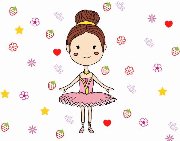 Dibujo Una bailarina de ballet pintado por PimPolloAr