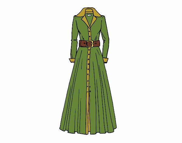 Dibujo Vestido camisero pintado por Juice