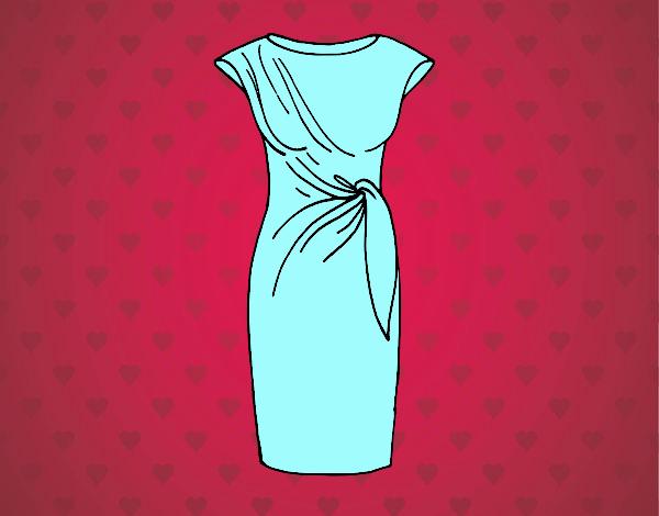 Dibujo Vestido elegante pintado por Juice