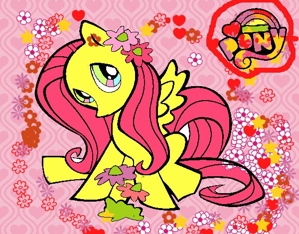 Dibujo De Fluttershy Para Colorear: Dibujo De Fluttershy Pintado Por En Dibujos.net El Día 20