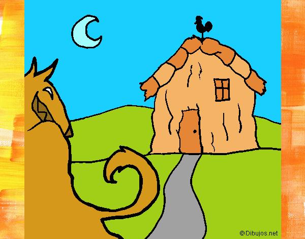 Dibujo Los tres cerditos 6 pintado por lina200714