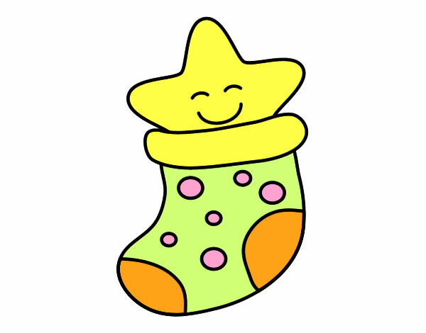 Calcetín con estrella