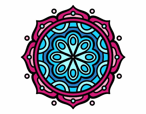 Dibujo De Mandala Meditación Para Colorear: Dibujo De Mandala Para Meditar Pintado Por Islu En Dibujos