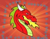 Dibujo Cabeza de dragón europeo pintado por keonii