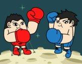 Dibujo Combate de boxeo pintado por keonii