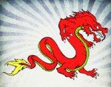 Dibujo Dragón caminando pintado por keonii