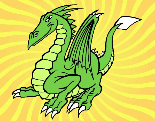 Dibujo Dragón elegante pintado por keonii