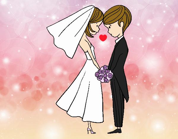 Dibujo El Marido y la Mujer pintado por mirperla