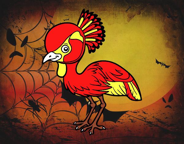 Dibujo Grulla coronada cuelligris pintado por marcostano