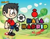 Dibujo Hala Madrid pintado por keonii