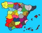 Dibujo Las provincias de España pintado por keonii