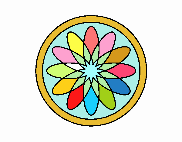 34 Mandalas Para Imprimir Y Colorear: Dibujo De Mandala 34 Pintado Por En Dibujos.net El Día 13