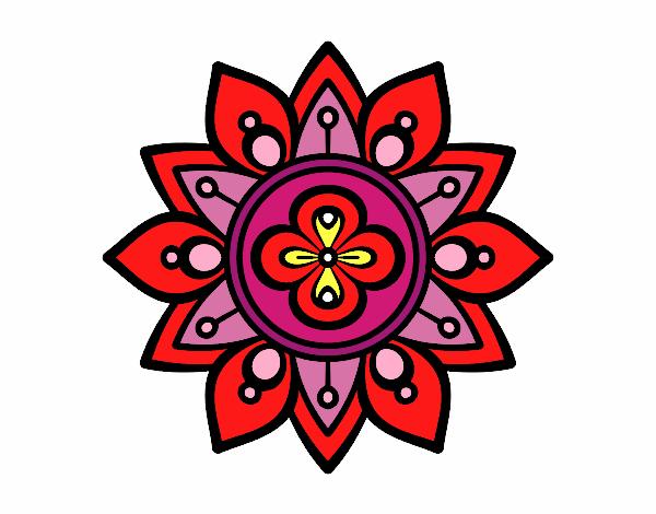 Dibujo Mandala flor de loto pintado por fer046