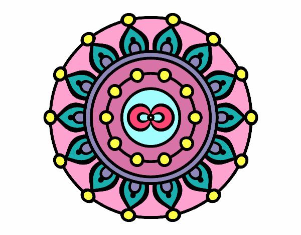 Dibujo Mandala meditación pintado por fer046
