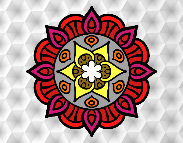 Dibujo Mandala vida vegetal pintado por keonii