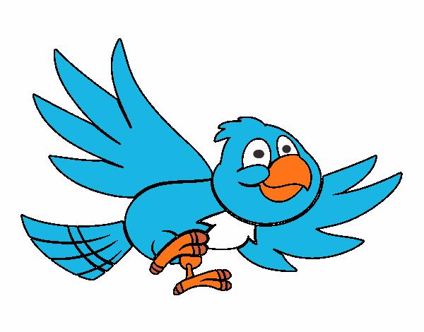Dibujo de Pjaro volando pintado por en Dibujosnet el da 1107
