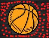 Dibujo Pelota de baloncesto pintado por keonii