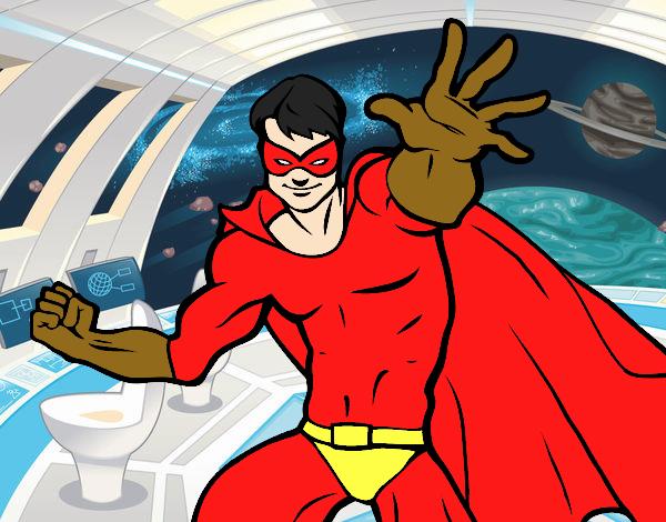 Dibujo Superhéroe enmascarado pintado por keonii