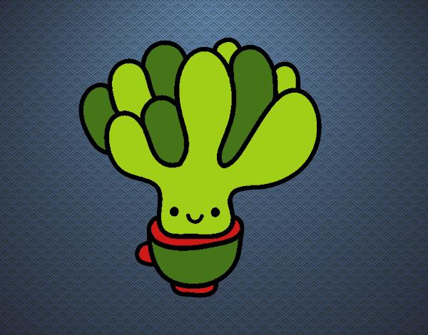 Dibujo Cactus suculenta pintado por marcostano