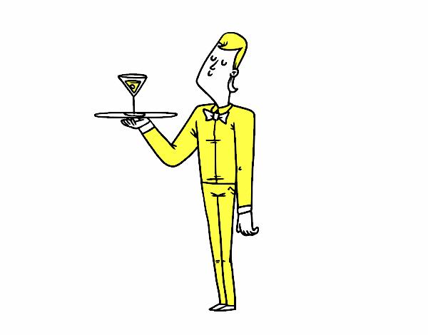 Camarero con coctel
