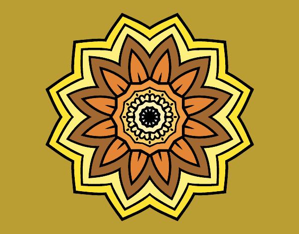 Dibujo Mandala flor de girasol pintado por fer046