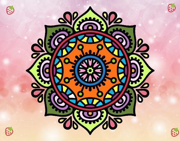 Dibujo De Mandala Para Relajarse Para Colorear: Dibujo De Mandala Para Relajarse Pintado Por En Dibujos