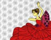 Dibujo Mujer flamenca pintado por 1lindapao